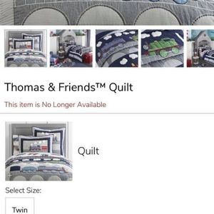 Thomas and Friends twin quilt with sham